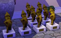 キャリコ世帯にある黄金のノーム像