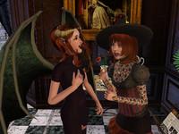 仮装したミランダとサンドラ