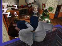 空中で眠るソード家夫婦