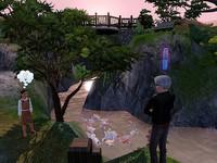 学者の庭で釣り