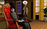 ロッキングチェアに座るマーカスさん