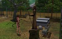 墓地に来たトリスタ