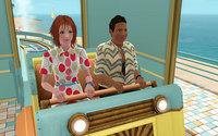 ジェットコースターに乗るミランダとアル君