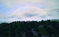 サンセット・バレーに虹が架かった