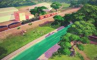 貨物列車が走る