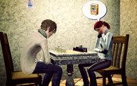 マルセル、ヴェル・ネコヤシキさんとチェスのランクマッチをする