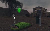 雷雨の中、野外で眠る…