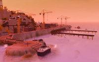 ピンクに染まる軍艦島