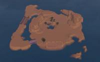 小さい砂漠の島
